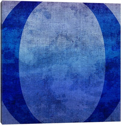 O-Blue To Purple Stain Canvas Art Print