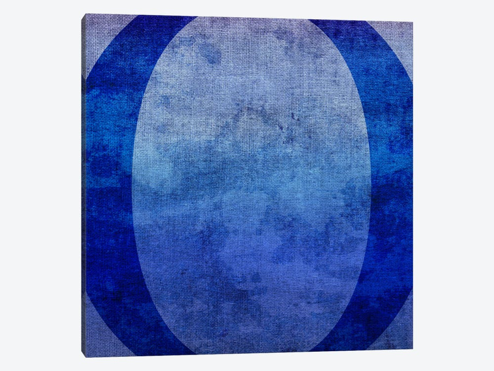 O-Blue To Purple Stain by 5by5collective 1-piece Canvas Art Print