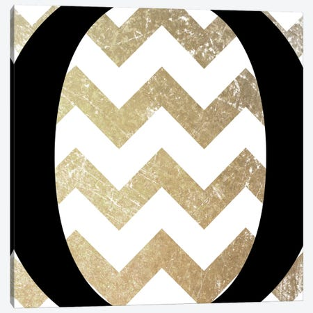 O-Bold Gold Chevron Canvas Print #TOA338} by 5by5collective Canvas Art