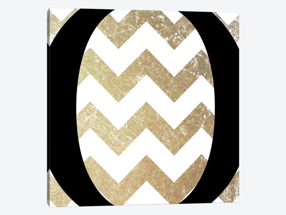 O-Bold Gold Chevron by 5by5collective 1-piece Canvas Wall Art