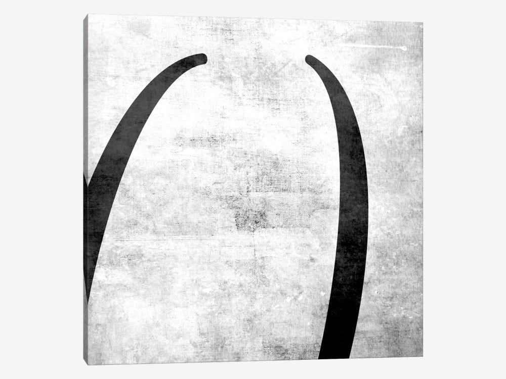 Parentheses-B&W Scuff by 5by5collective 1-piece Canvas Art Print