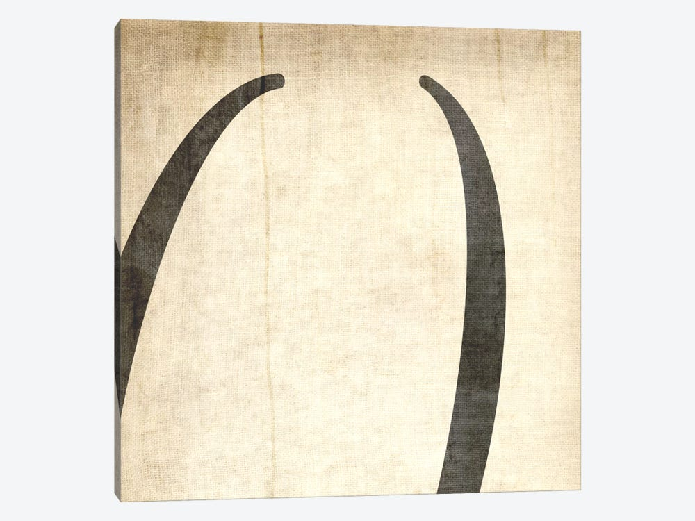 Parentheses-Bleached Linen by 5by5collective 1-piece Canvas Print