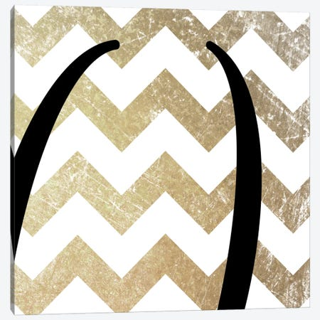 Parentheses-Bold Gold Chevron Canvas Print #TOA344} by 5by5collective Canvas Artwork
