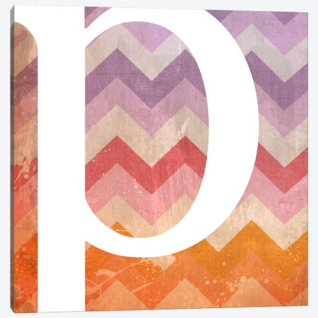 P-Blah Stained Canvas Print #TOA347} by 5by5collective Canvas Artwork