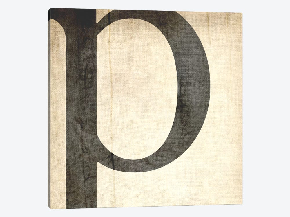 P-Bleached Linen by 5by5collective 1-piece Canvas Print