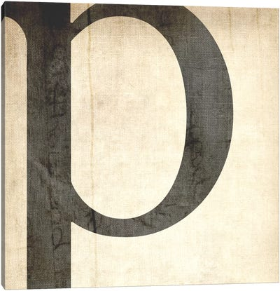 P-Bleached Linen Canvas Art Print
