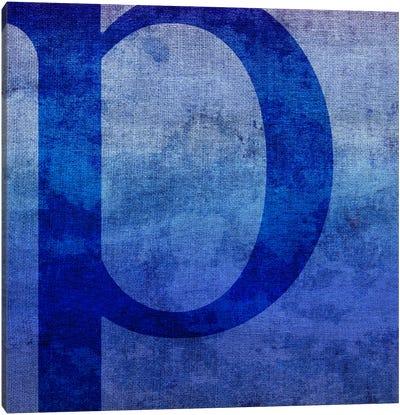 P-Blue To Purple Stain Canvas Art Print