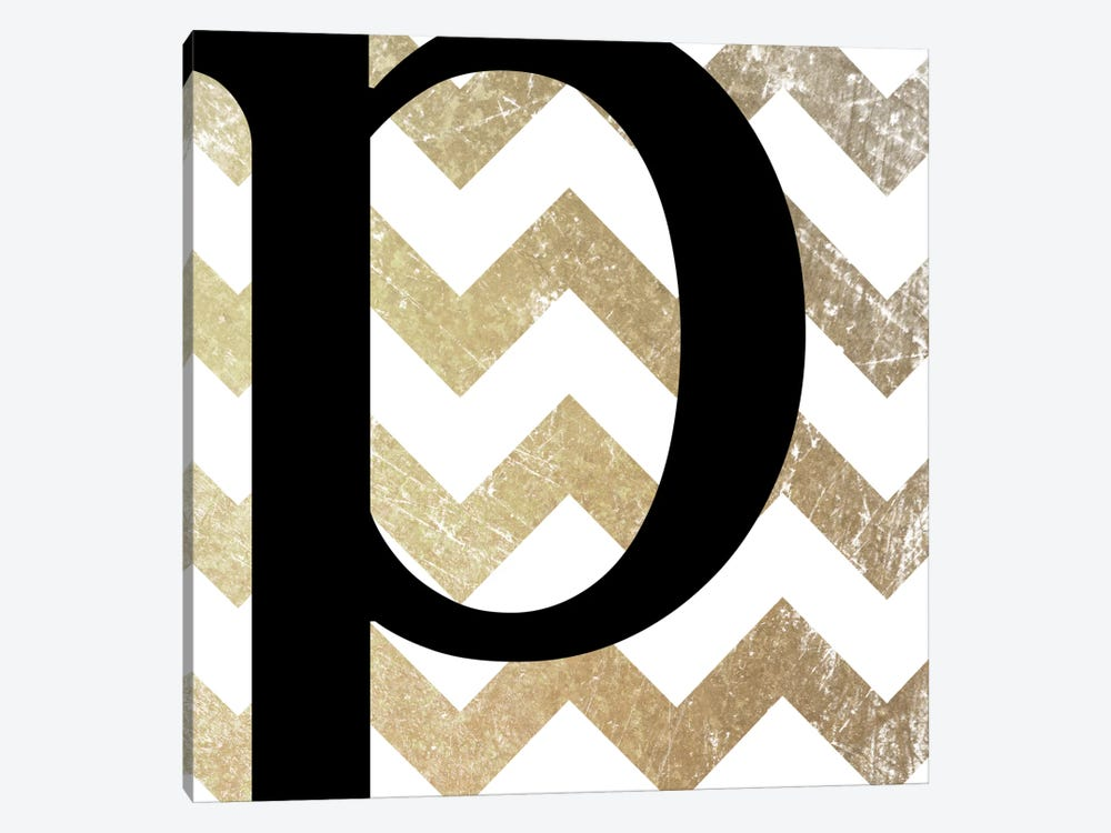 P-Bold Gold Chevron by 5by5collective 1-piece Canvas Wall Art