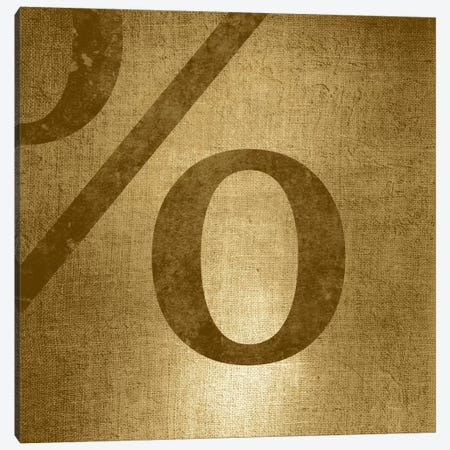 percent-Gold Shimmer Canvas Print #TOA351} by 5by5collective Canvas Art