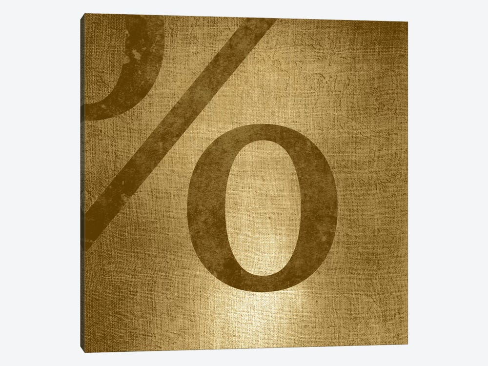 percent-Gold Shimmer by 5by5collective 1-piece Canvas Print