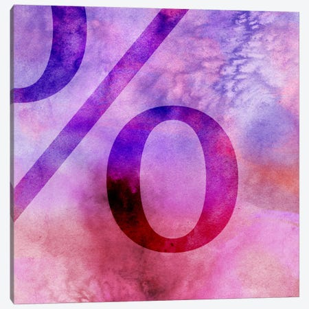 percent-Purple Canvas Print #TOA355} by 5by5collective Canvas Print