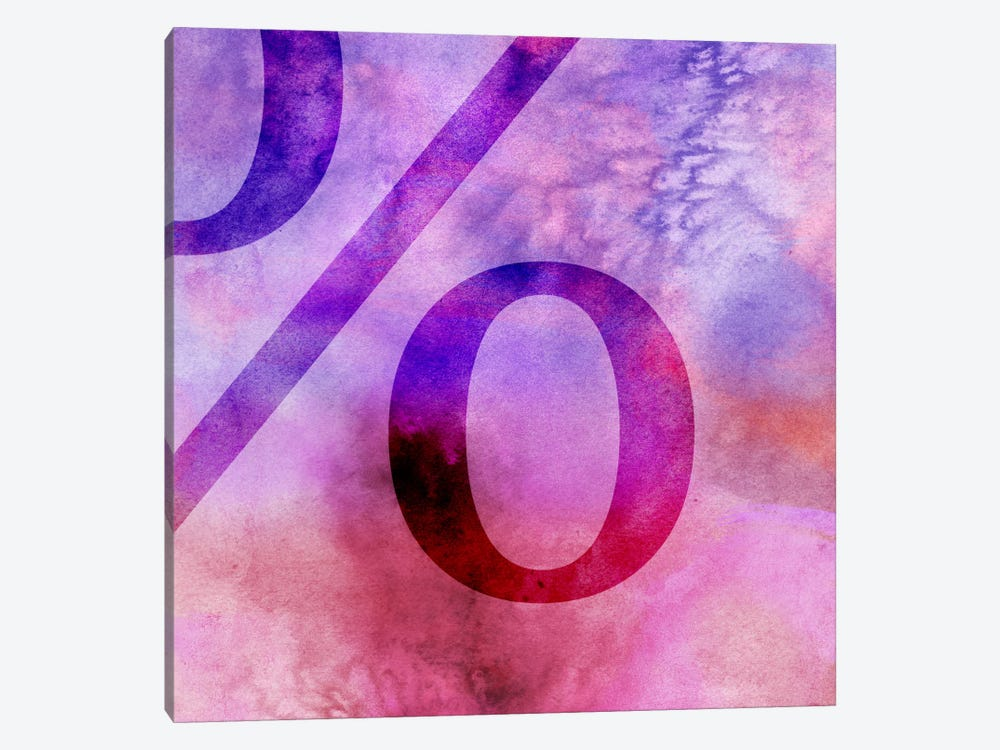 percent-Purple by 5by5collective 1-piece Canvas Art Print