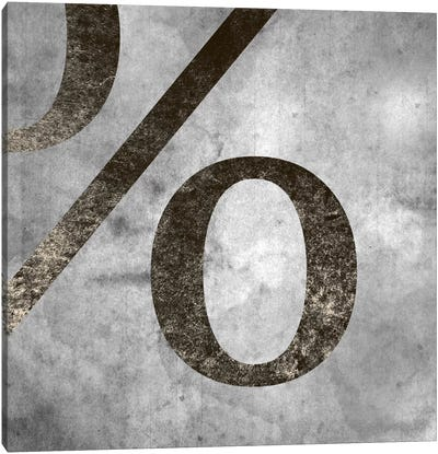 percent-Silver Fading Canvas Art Print
