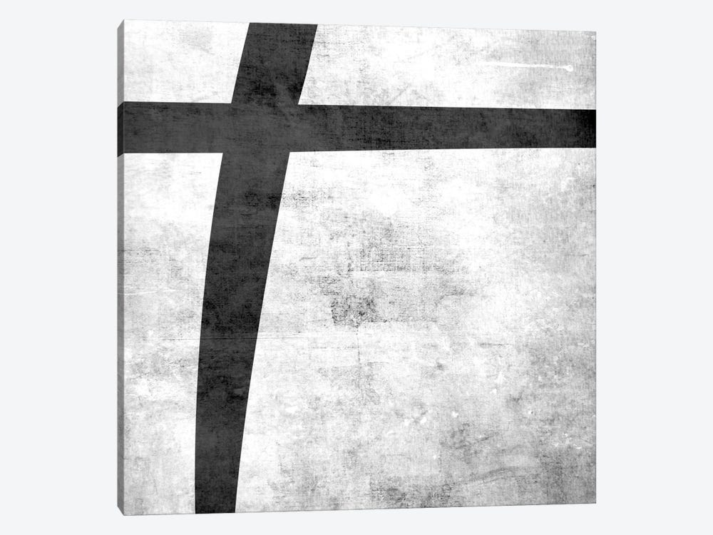 Plus-B&W Scuff by 5by5collective 1-piece Canvas Artwork