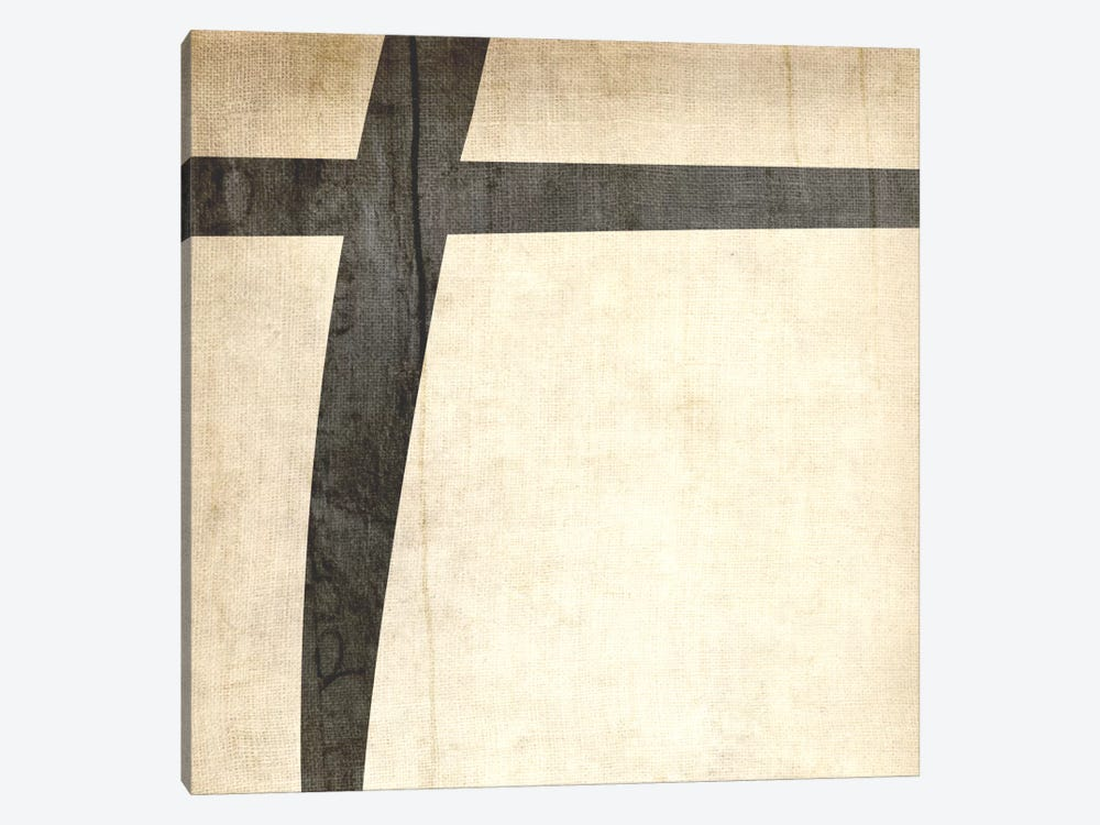 Plus-Bleached Linen by 5by5collective 1-piece Canvas Print