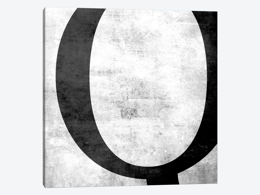 Q-B&W Scuff by 5by5collective 1-piece Canvas Print