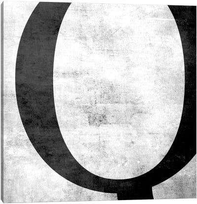 Q-B&W Scuff Canvas Art Print
