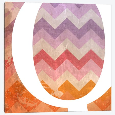 Q-Blah Stained Canvas Print #TOA365} by 5by5collective Canvas Artwork