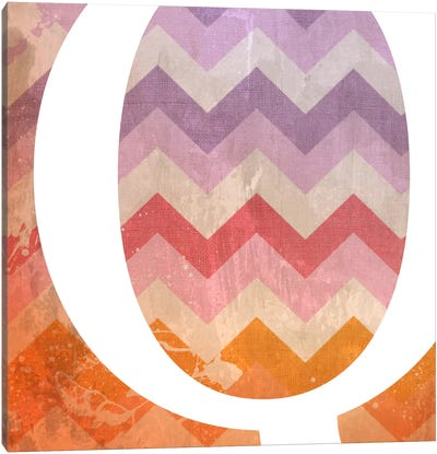 Q-Blah Stained Canvas Art Print