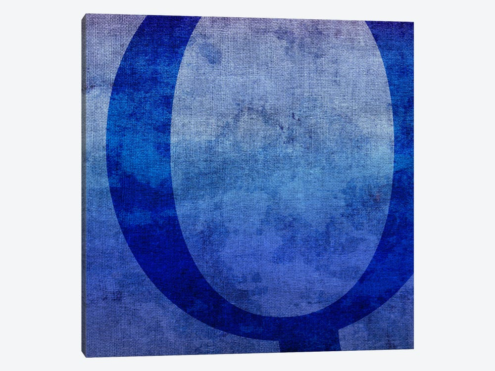 Q-Blue To Purple Stain by 5by5collective 1-piece Canvas Art
