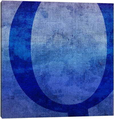 Q-Blue To Purple Stain Canvas Art Print