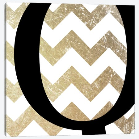 Q-Bold Gold Chevron Canvas Print #TOA368} by 5by5collective Canvas Print