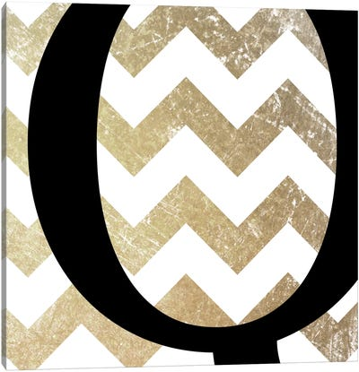 Q-Bold Gold Chevron Canvas Art Print