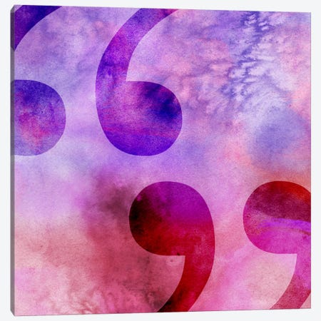 quotes-Purple Canvas Print #TOA373} by 5by5collective Canvas Wall Art