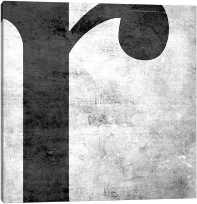 R-B&W Scuff Canvas Art Print