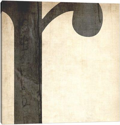 R-Bleached Linen Canvas Art Print