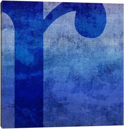 R-Blue To Purple Stain Canvas Art Print