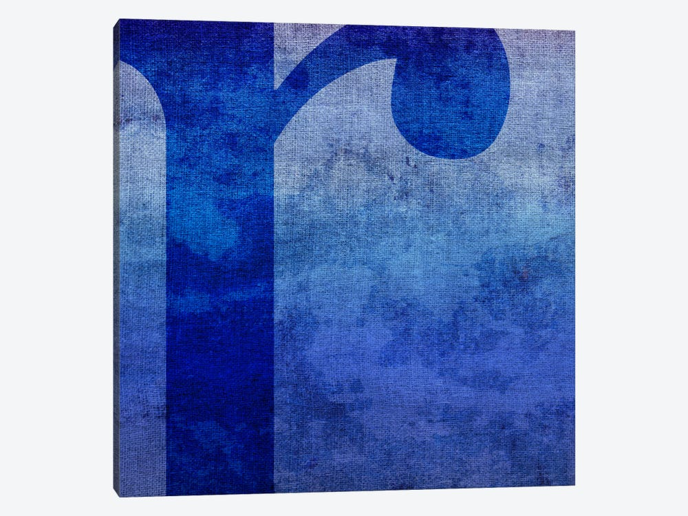 R-Blue To Purple Stain by 5by5collective 1-piece Canvas Print