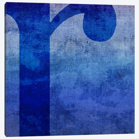 R-Blue To Purple Stain Canvas Print #TOA379} by 5by5collective Canvas Artwork