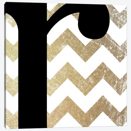 R-Bold Gold Chevron Canvas Print #TOA380} by 5by5collective Canvas Print