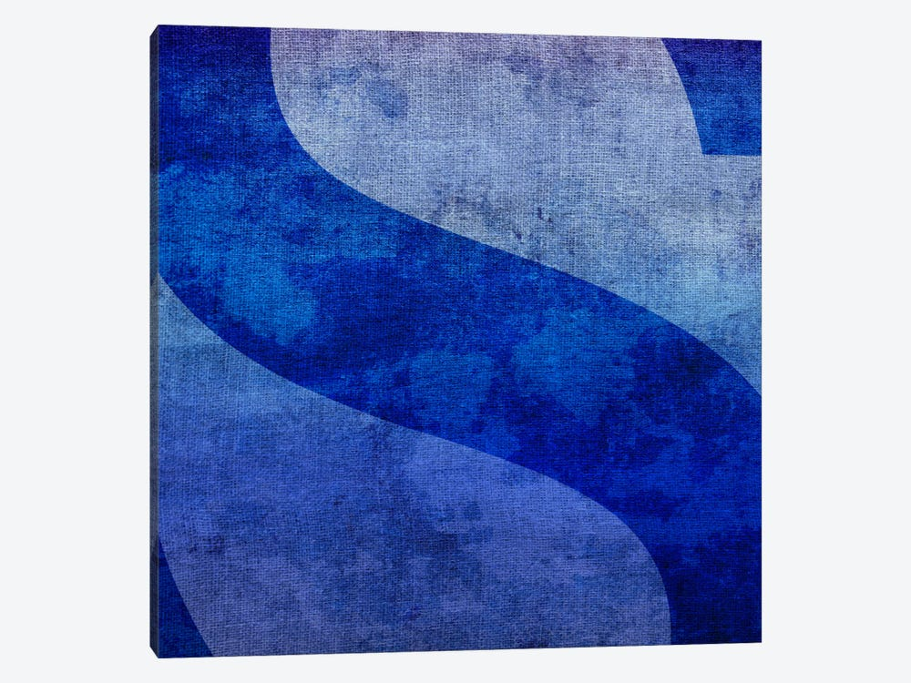 S-Blue To Purple Stain by 5by5collective 1-piece Canvas Art