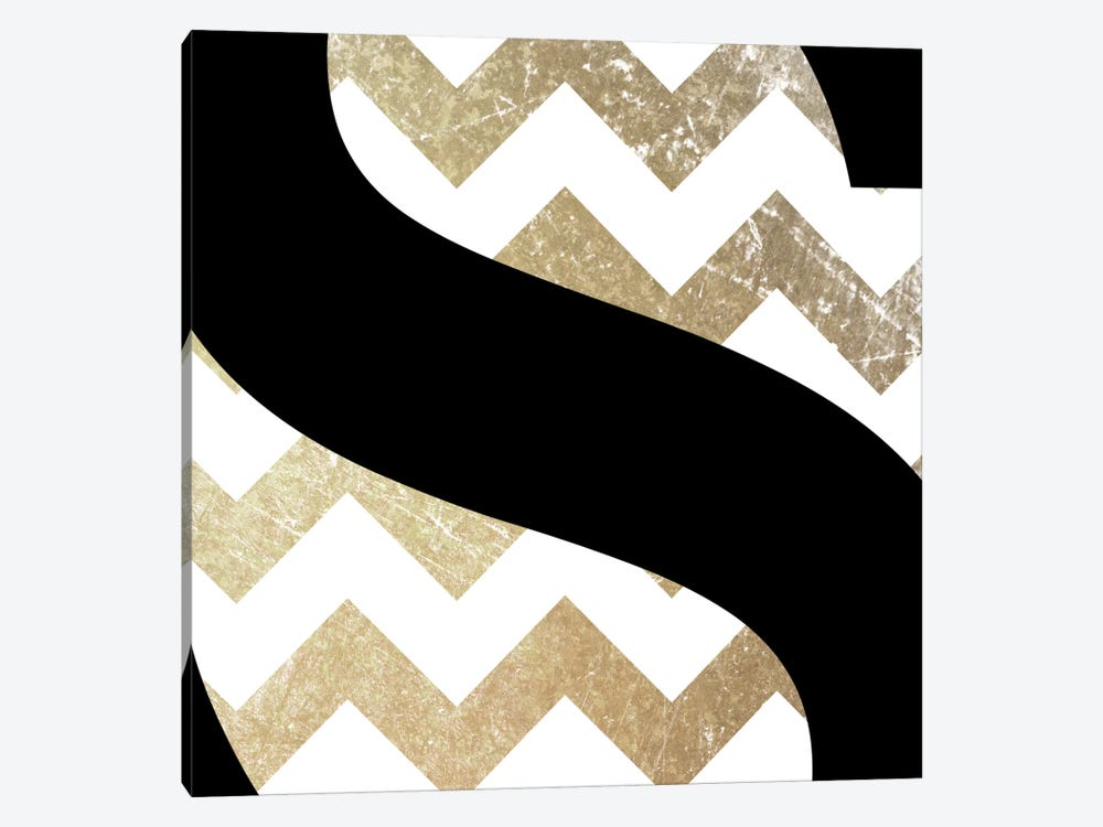 S-Bold Gold Chevron by 5by5collective 1-piece Art Print