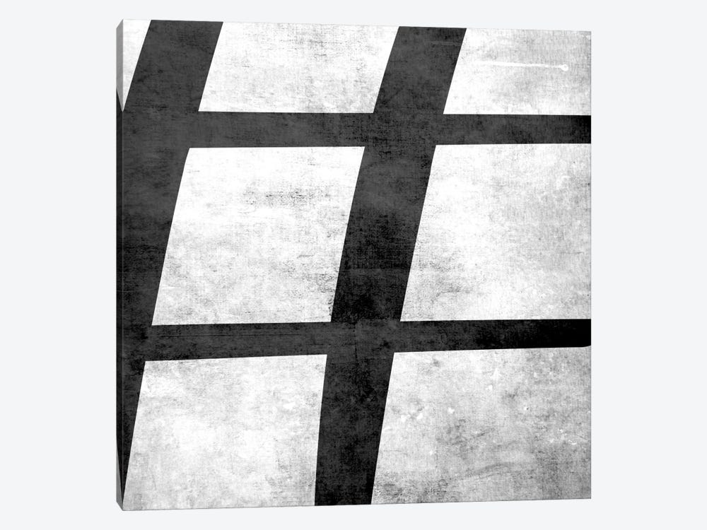 Sharp-B&W Scuff by 5by5collective 1-piece Canvas Art Print