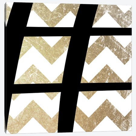 Sharp-Bold Gold Chevron Canvas Print #TOA392} by 5by5collective Canvas Art