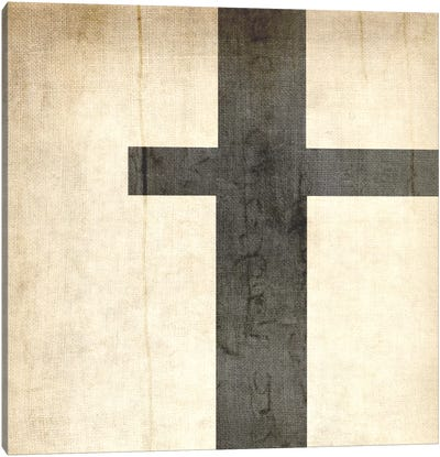 T-Bleached Linen Canvas Art Print
