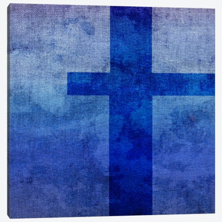 T-Blue To Purple Stain Canvas Print #TOA397} by 5by5collective Art Print
