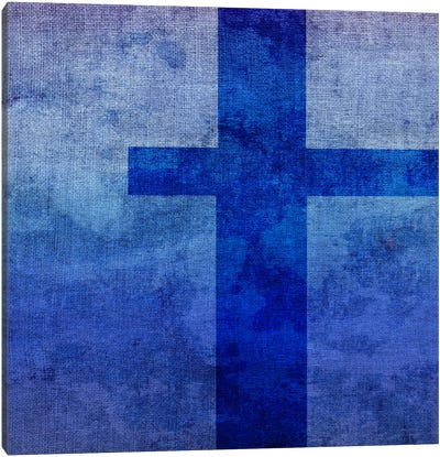 T-Blue To Purple Stain Canvas Art Print