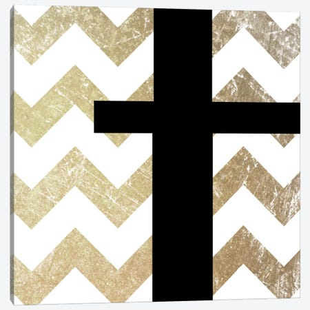 T-Bold Gold Chevron Canvas Print #TOA398} by 5by5collective Canvas Wall Art