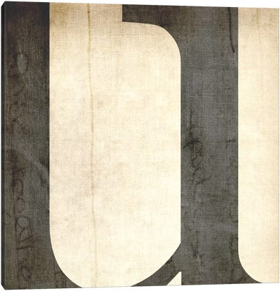 U-Bleached Linen Canvas Art Print