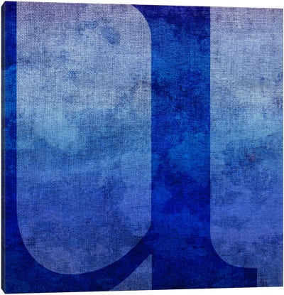 U-Blue To Purple Stain Canvas Art Print