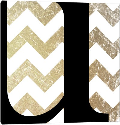 U-Bold Gold Chevron Canvas Art Print