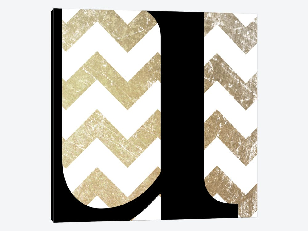 U-Bold Gold Chevron by 5by5collective 1-piece Canvas Artwork