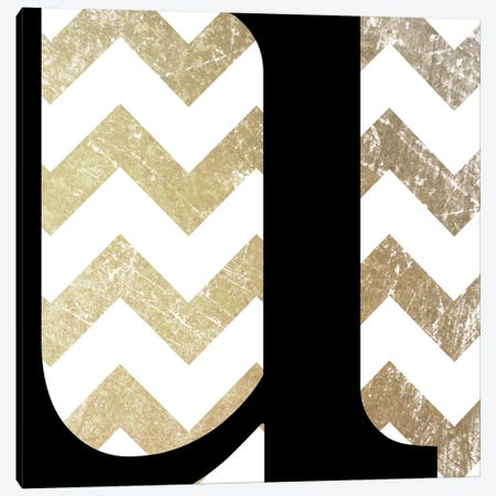U-Bold Gold Chevron Canvas Print #TOA404} by 5by5collective Canvas Art Print