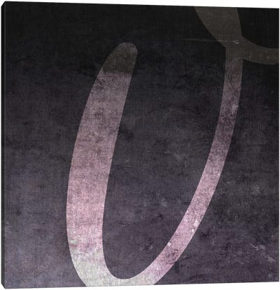V-B&W Neg Canvas Art Print