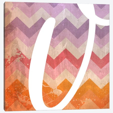 V-Blah Stained Canvas Print #TOA407} by 5by5collective Art Print