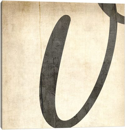 V-Bleached Linen Canvas Art Print
